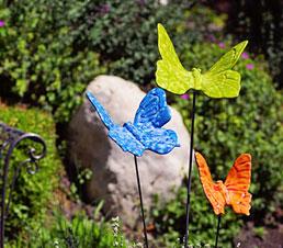 Flutterbyz Ceramic Garden Sculptures
