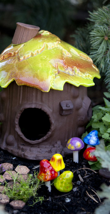 fairy garden house ceramics