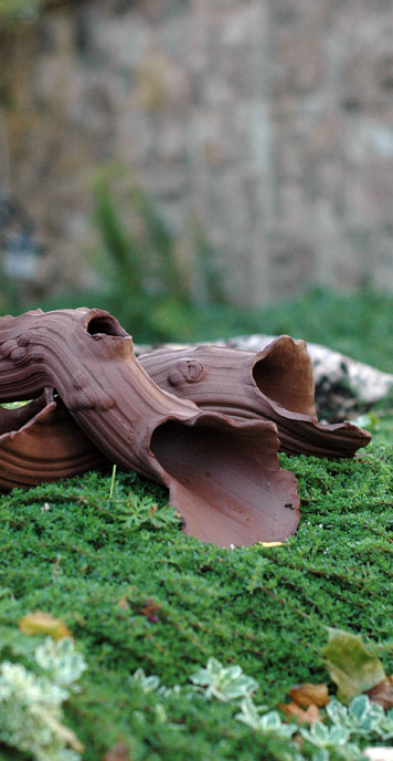 Ceramic Driftwood Drifter by JJ Potts Garden sculptors.